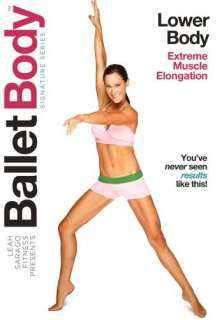 DVD LOWER BODY BARRE WORKOUT EXERCISE LEAH SARAGO 707541435291