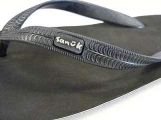 Sanuk Mens Black Current Thong Sandal 7