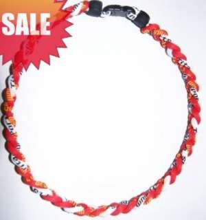 2011 Ionic Titanium Baseball Sports goods Tornado Necklace Red&White