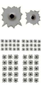 40) HO CUSTOM SLOT CAR BULLET HOLE DECALS CUSTOM