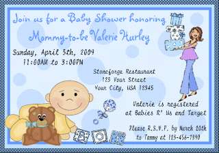 Personalized BABY SHOWER invitations girl or boy