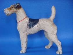 Hubley Wire Haired Fox Terrier Dog Cast Iron Door Stop