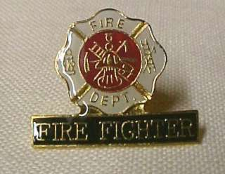 Fire Fighter Maltese Cross Lapel Pin Cap Pins Tac New