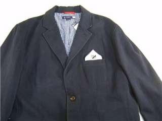 Daniel Cremieux Blazer M Sport Coat Cotton Mens Dark Gray Jacket Lined
