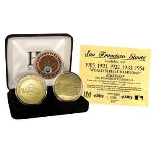 San Francisco Giants 24kt Gold and Infield Dirt Three Coin