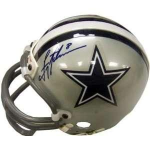 Troy Aikman Autographed / Signed Mini Helmet Sports