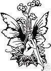 Amy Brown MAGIC Fairy Window Car Sticker Decal red whit