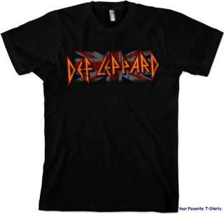 Licensed Def Leppard Union Logo Adult Shirt S XL
