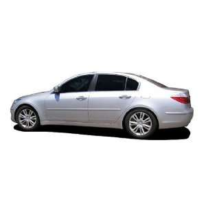 Painted Body Side Moldings for 2009 2012 Hyundai Genesis (Hyper Silver