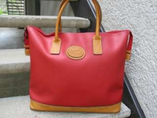 Ricardo Beverly Hills Used Red Handbag Tote Satchel
