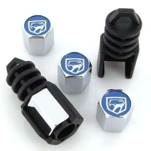 Dodge Viper Old Style Blue Logo Anti Theft Tire Valve Caps