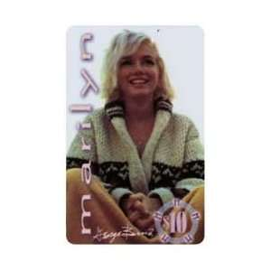 Card $10. Marilyn Monroe In Sweater; Sitting Up With Blanket On Legs