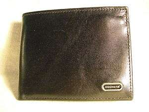 Dockers Mens Black Leather Slimfold Wallet