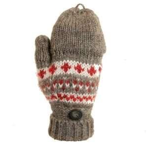 Dorfman Pacific W0558 CHARHTR Winter Springs   Hand Knit Wool Mitten