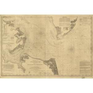 Map Chesapeake Bay, Sheet no. 1, York River, Hampton Roads, Chesapeake