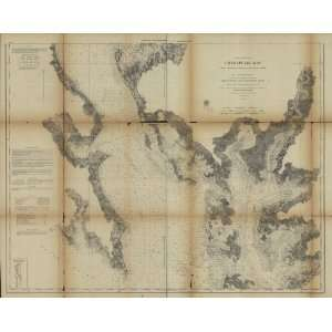 Civil War Map Chesapeake Bay from its head to Potamac