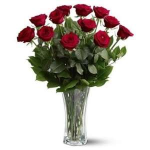 Dozen Long Stem Red Roses:  Grocery & Gourmet Food