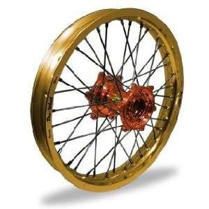 Wheel MX Rear Wheel Set   19x1.85   Gold Rim/Orange Hub 24 11064 HUB