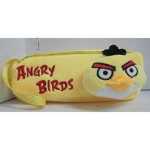 Yellow Angry Birds Soft Plush Pencil Case Bag Everything