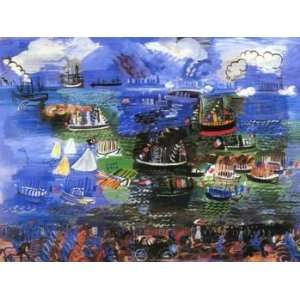12X16 inch Raoul Dufy Abstract Canvas Art Repro Water
