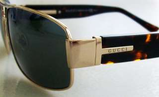 GUCCI Sunglasses GG 1923 86QRC Gold Green Mirrored Tortoise NEW