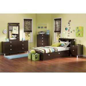 Full Bedroom Furniture Sets on Youth Bedroom Sets On Kids Bedroom Furniture Set 3 In Chocolate South