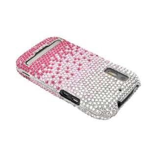 For Motorola Photon 4G Electrify Pink Waterfall Silver Bling Hard Case