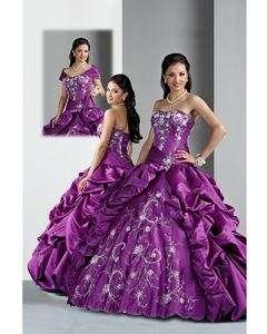 Purple Full Length Wedding Dress Prom ball Quinceanera Dresses Custom