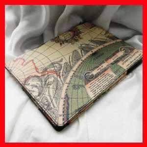 Apple iPad Leather Case For 2nd Generation (Map Design) Electronics