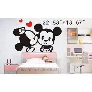 Easy instant decoration wall sticker decor  Kiss   22.83inch*13.67inch