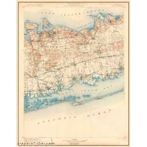 USGS TOPO MAP ISLIP QUAD NEW YORK (NY) 1904 Home