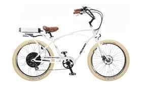 PEDEGO INTERCEPTOR ELECTRIC CRUISER BICYCLE BIKE  WHITE FRAME/BLKRIMS
