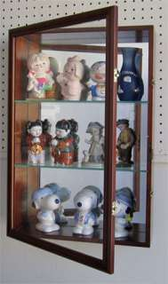 Precious Moments Figurine Wall Curio Cabinet Shadow Box