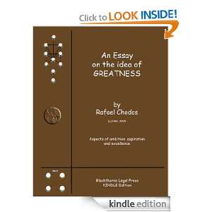 An Essay on the Idea of Greatness (Philosophical Essays): Rafael