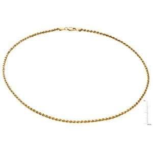 14 karat yellow gold Diamond Cut Rope Chain Diamond Designs Jewelry