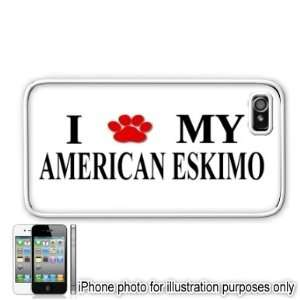 American Eskimo Paw Love Dog Apple iPhone 4 4S Case Cover