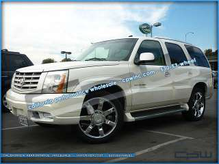 CADILLAC ESCALADE 22 INCH PLATINUM CHROME WHEELS RIMS