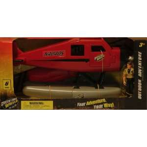 Seaplane with Opening Doors, Silver Pontoons and Pilot: Toys & Games