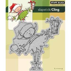 Penny Black Cling Rubber Stamp 5X5 7/8 Little Elf