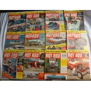12 Vintage Hot Rod Car Magazines 1957 Full Year Petersen