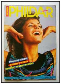 PHILDAR Knitting Crochet Pattern Book Summer Tops Lace