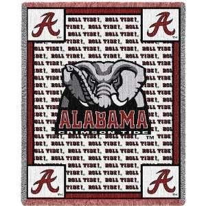 of Alabama Roll Tide Jacquard Woven Throw   69 x 48