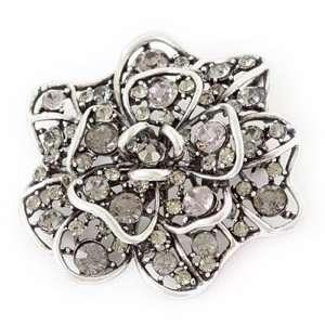Austrian Crystal Flower Brooch Pin Jewelry