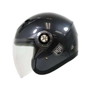 PGR Jet Pilot Open Face Motorcycle DOT APPROVED Helmet JE02 (L, Gun
