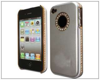 Bling Diamond Case Cover iPhone 4 4S front&back protector film
