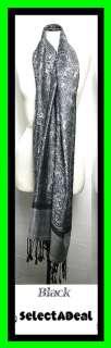 Solid Paisley Pashmina Silk Cashmere Wool Shawl Scarf Stole Wrap Women