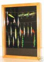 Fishing Lure, Bait, spoon display case cabinet Shadow Box with door