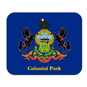 US State Flag   Colonial Park, Pennsylvania (PA) Mouse Pad