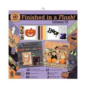Finished In A Flash Page Kit 12X12   Halloween Arts