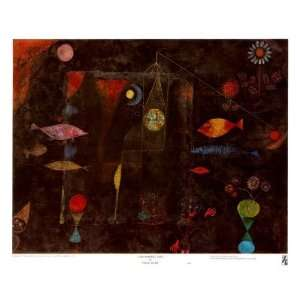 Fish Magic Finest LAMINATED Print Paul Klee 26x21 Home